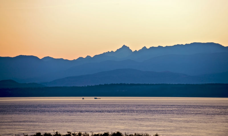The Olympics from Whidbey Island