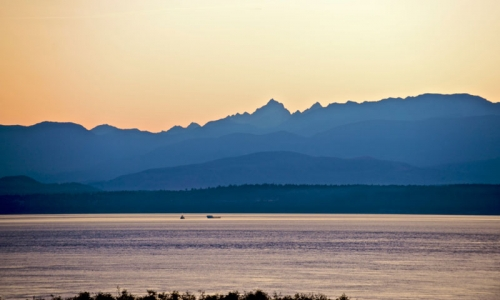 Olympic Mountains From Whidbey Island