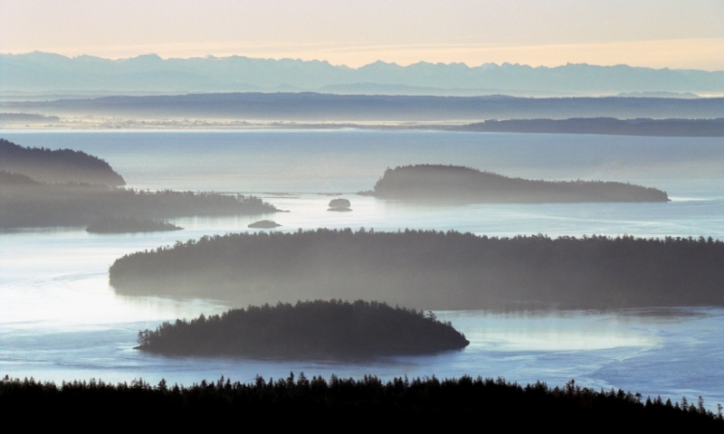 Overlooking San Juan Island from Deception Pass