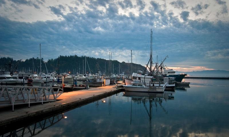 Marina in Anacortes Washington