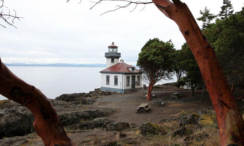 The Lime Kiln Lighthouse and State Park on San Juan Island