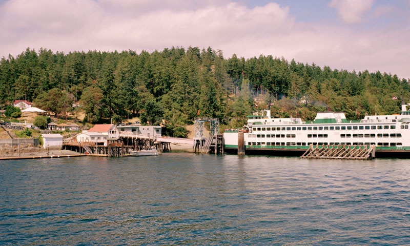 The Ferry docked at Orcas Island