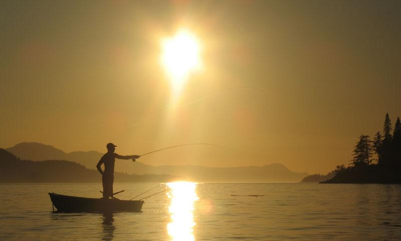 Fly Fishing off of Vancouver Island