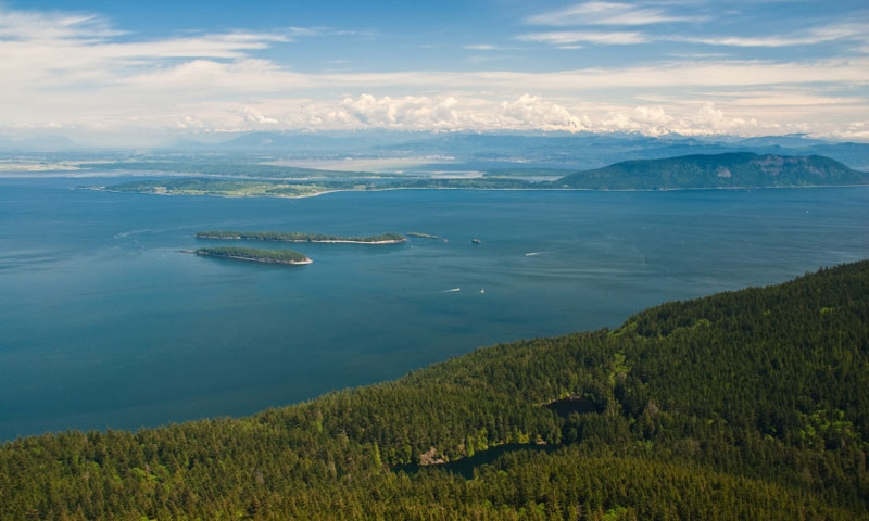 Overlooking Orcas Island from Mount Constitution